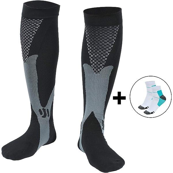 S//M Kompressionssocken mit atmungsaktivem Netzstoff Extrad/ämpfung f/ür Rennen Laufen und Outdoor-Aktivit/äten Laufsocken Wandern Socken Sable Kompressionsstr/ümpfe