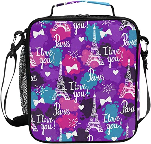 Insulated Lunch Bag For Women Men Kids Thermos Cooler Adults Tote Food Lunch LUV