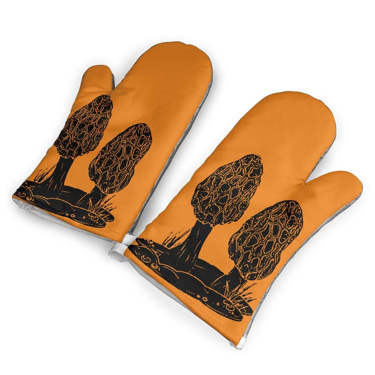 Mushroom Hunter Morel Mushroom Farming Oven Gloves,Non-Slip Easy to Use Oven Mitts for Cooking,1Pair