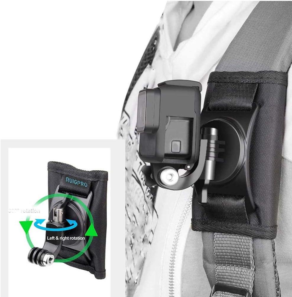 RUIGPRO تحديث كاميرا الرياضة كليب حقيبة الظهر 360 درجة دوران ل Xiaomi Yi ل Gopro Hero8 7 6 5 4 إكسسوارات كاميرا الحركة
