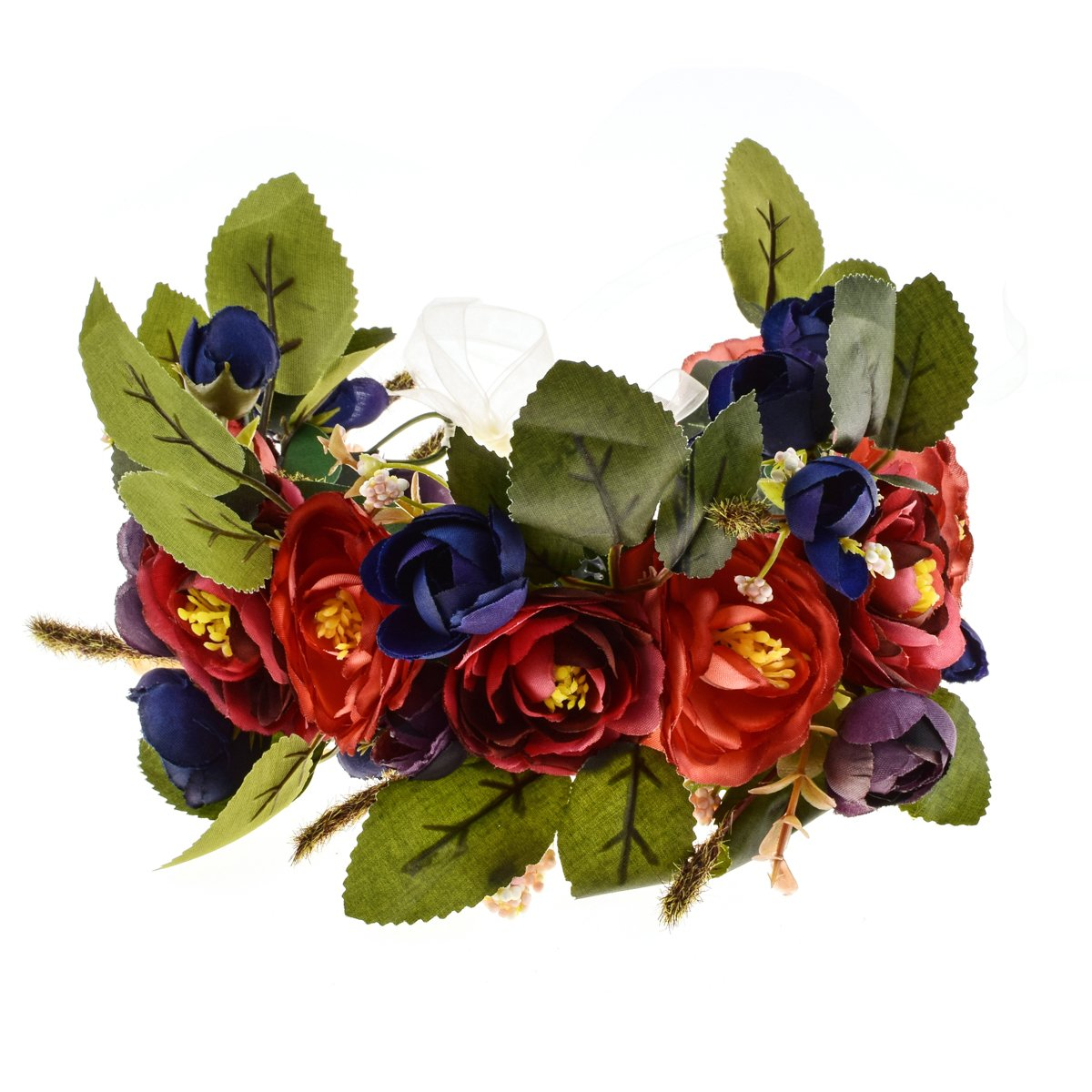 Love Sweety Rose Flower Headband Floral Crown Garland Halo (Royal Blue)