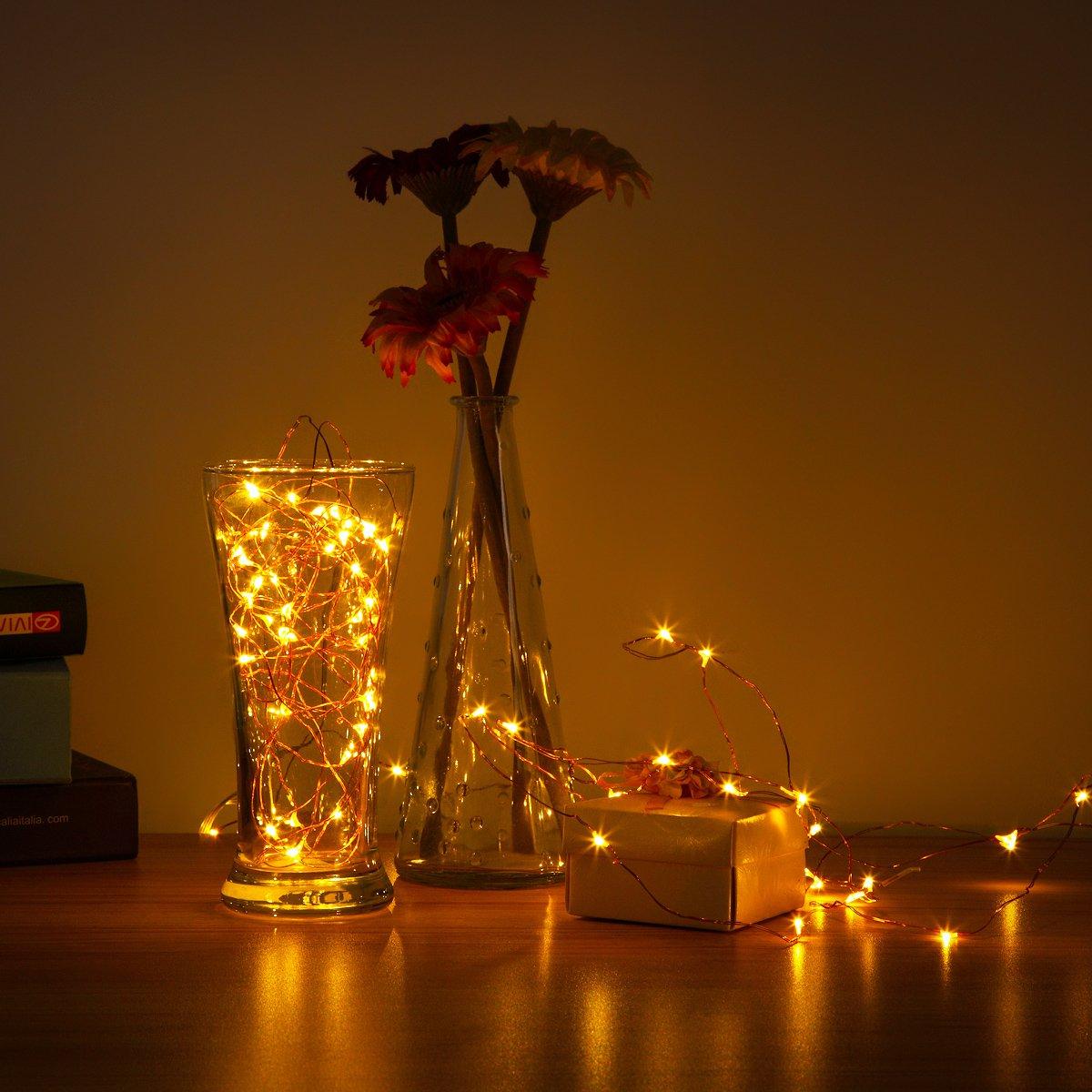 AMIR 2.2M 20LEDs Lichterkette, LED Drahtlichterkette: Amazon.co.uk ...