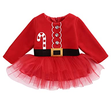 Amazon.com: Vestido de tul de manga larga con botones para ...