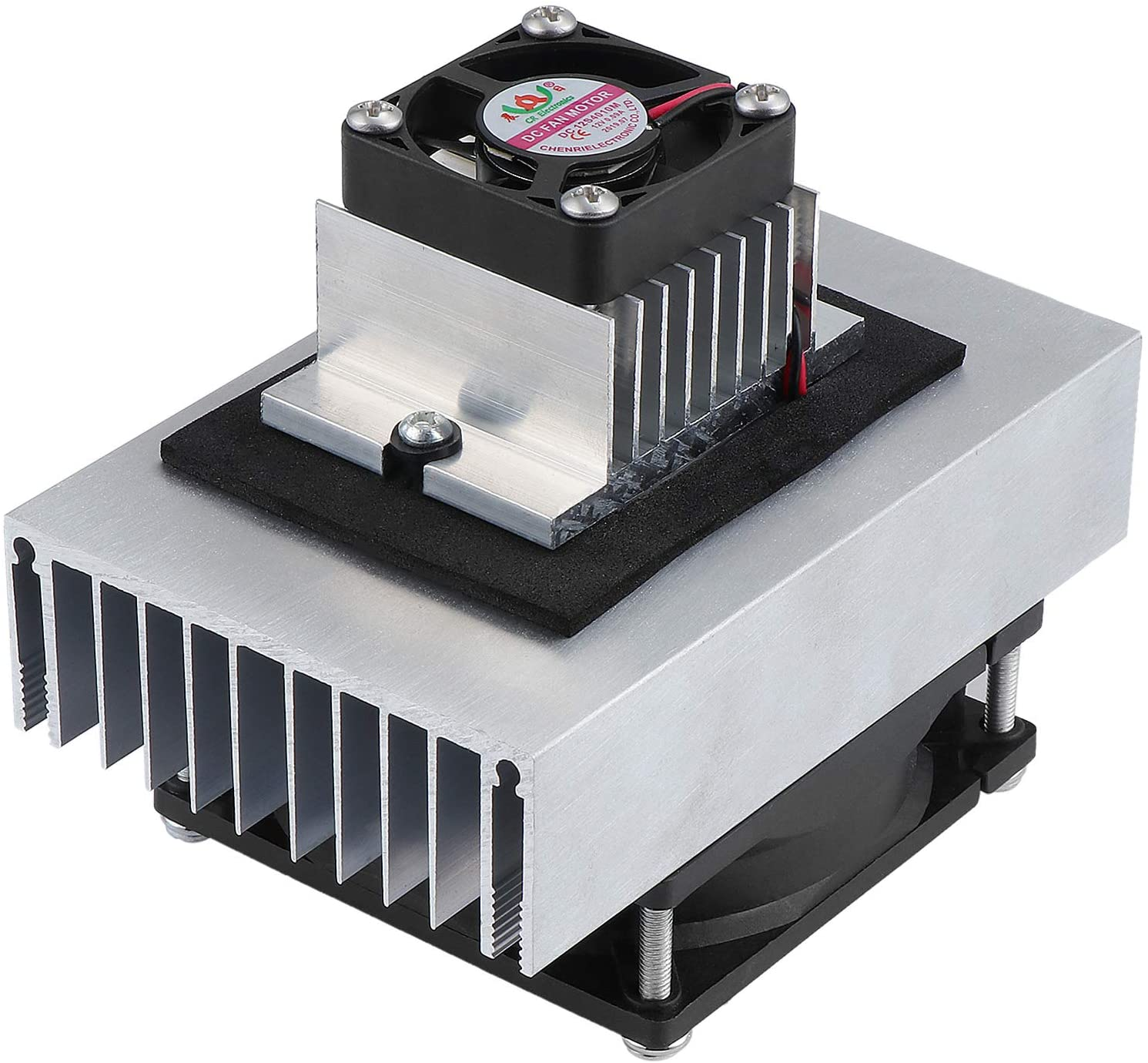 ESUMIC DC 12V DIY Thermoelectric Peltier Refrigeration Cooling System Kit Semiconductor Cooler Conduction Module + Radiator + Fan + TEC1-12706