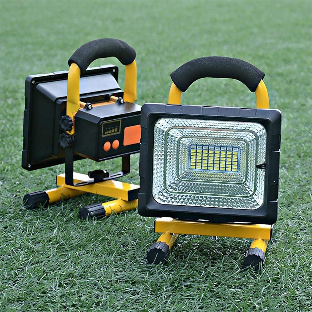 FNHGNG Projecteur LED Rechargeable 100W 8000 Lumens Lampe de Travail LED Charger des Appareils Mobiles Via Un Port USB Lampe de Chantier avec T/él/écommande 4 Modes D/éclairage,Travail Continu,3//7h