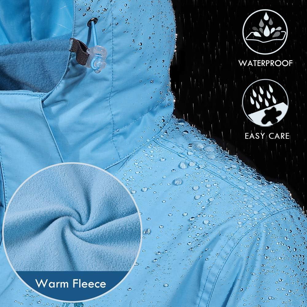 CAMEL CROWN Veste Softshell Femme Imperm/éable 3 en 1 Veste Zippe Ski Coupe Vent avec Plusieurs Poches Polaire D/étachable pour Hiver Automne