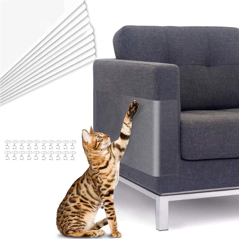 TaimeiMao sofá Anti-arañazos,Gatos Anti-arañazos,Gatos Anti arañazos para sofá,Sofá antiarañazos para Gatos,Gato Anti arañazos,Protector de Muebles para Gatos (10 Piezas)