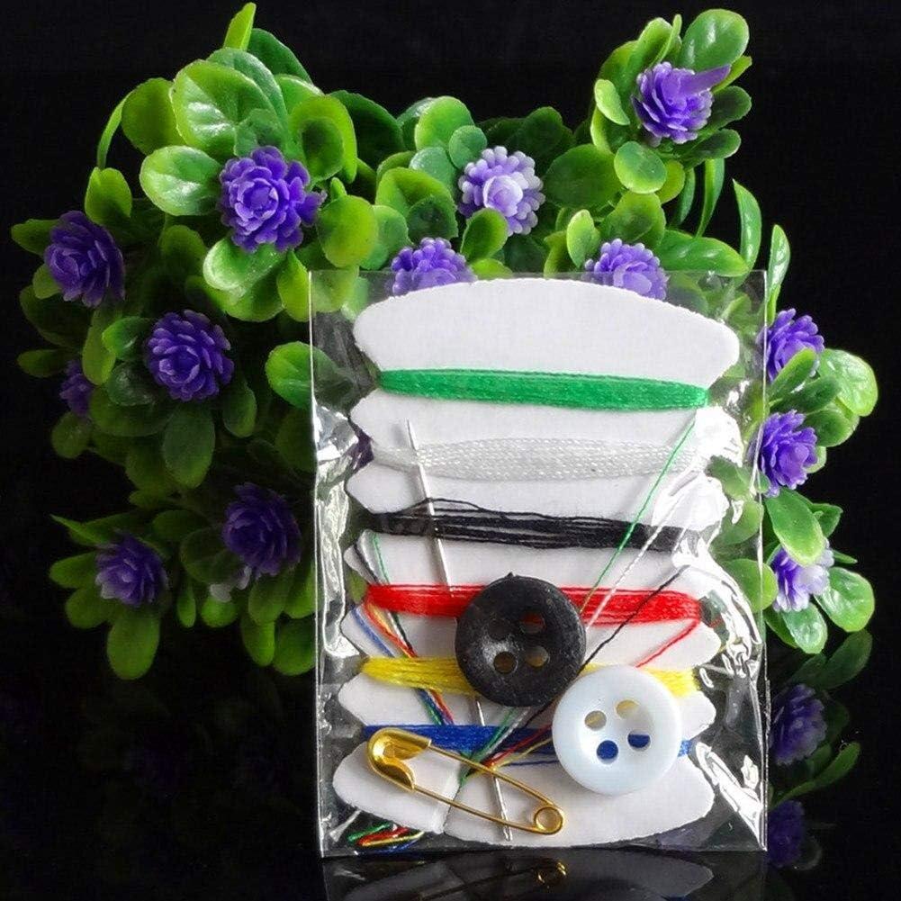 Zonfer Costura De La Mano del Kit Puntadas Botones Mini Caja del Bolsillo De Pernos De Rosca Viaje Agujas De Coser Kit