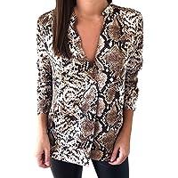 27432468066b tohole Damen Langärmeliges T-Shirt mit Schlangenmuster Top Sexy Oberteile  Herbst Sweatshirt Langarmshirts T-