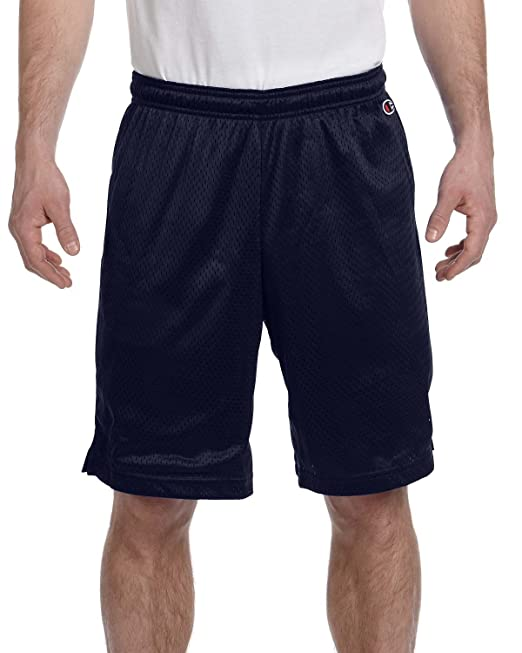 44760f57d60a34 Champion Polyester Mesh Shorts Navy Large  Amazon.in  Clothing   Accessories