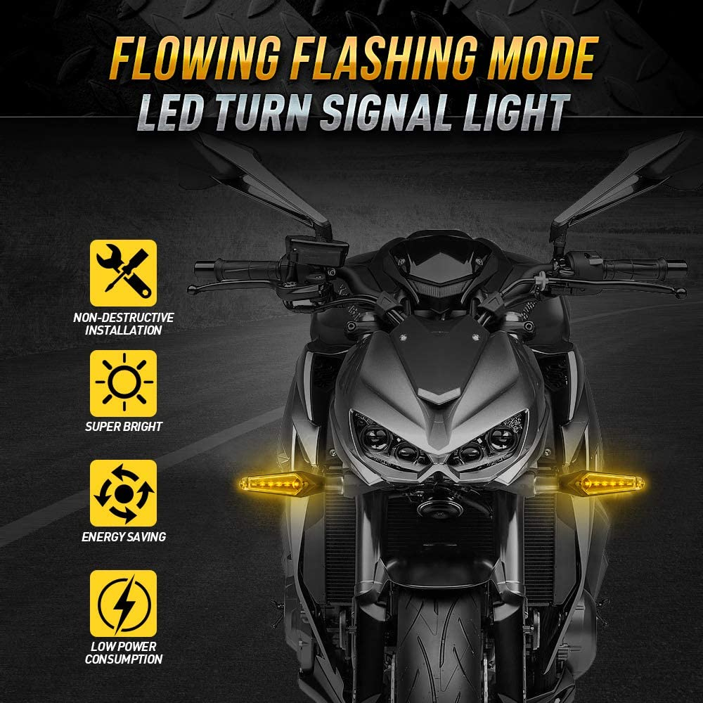 Amber & Red Universal 12V LED Turn Signal Light for Motorcycle ...