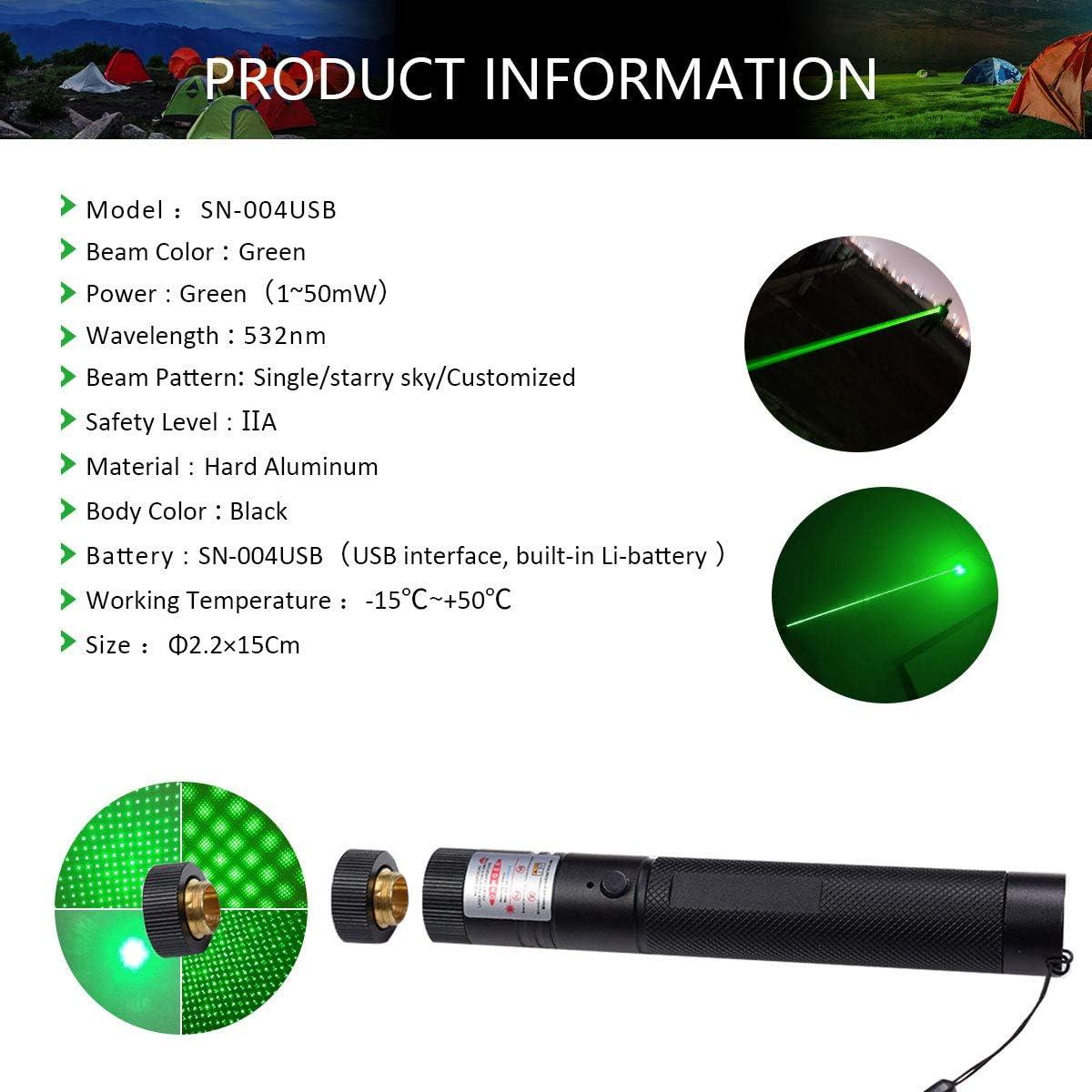 High Beam Adjustable Light Size Pattern Outdoor Camping Hunting,Handheld Flashlights Laca Green Beam Assist