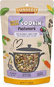 Crazy Good Cookin' Sunseed Bird Treat, 16 Ounces, Pastamoré with Carrots Lentils and Peas