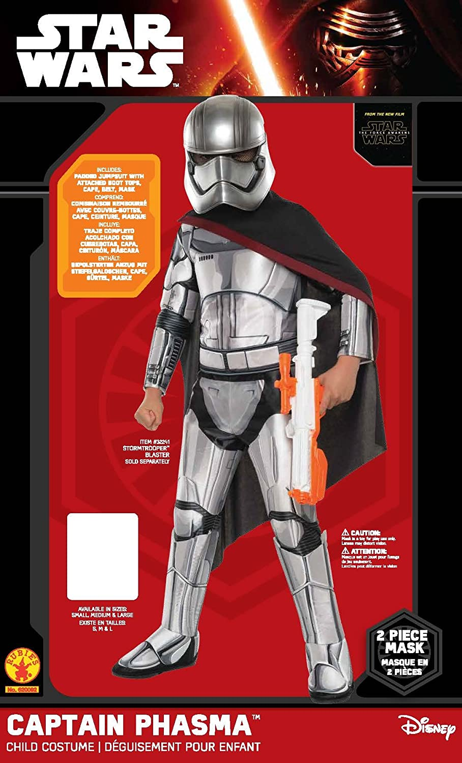 Star Wars: The Force Awakens Childs Super Deluxe Captain Phasma Costume, Small