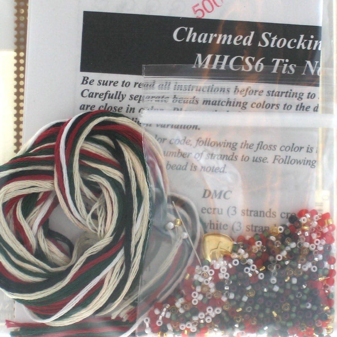 Tis Noel Stocking Beaded Ornament Kit Mill Hill 1997 Charmed Stockings