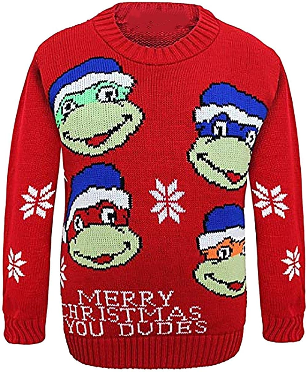 Ladies OMG Santa Print Christmas Knitted Jumper Unisex Full Sleeves Sweater Top