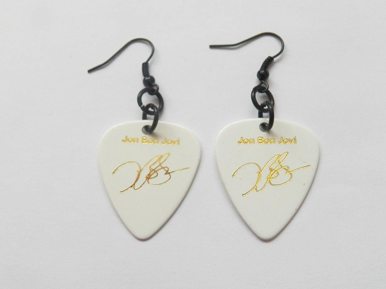 Jon Bon Jovi Bonjovi púa para guitarra con garras oro con sello pendientes: Amazon.es: Instrumentos musicales
