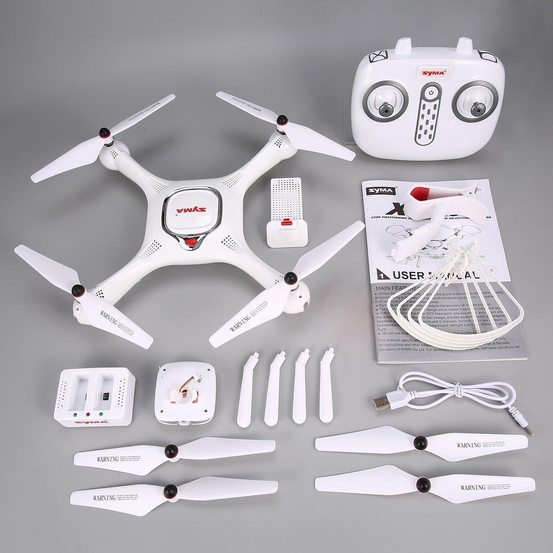 Swiftswan Für Syma X25PRO 2,4G GPS Positionierung FPV RC Drone Quadcopter mit 720 P HD WiFi Einstellbare Kamera Höhe Halten Follow Me Geschenk