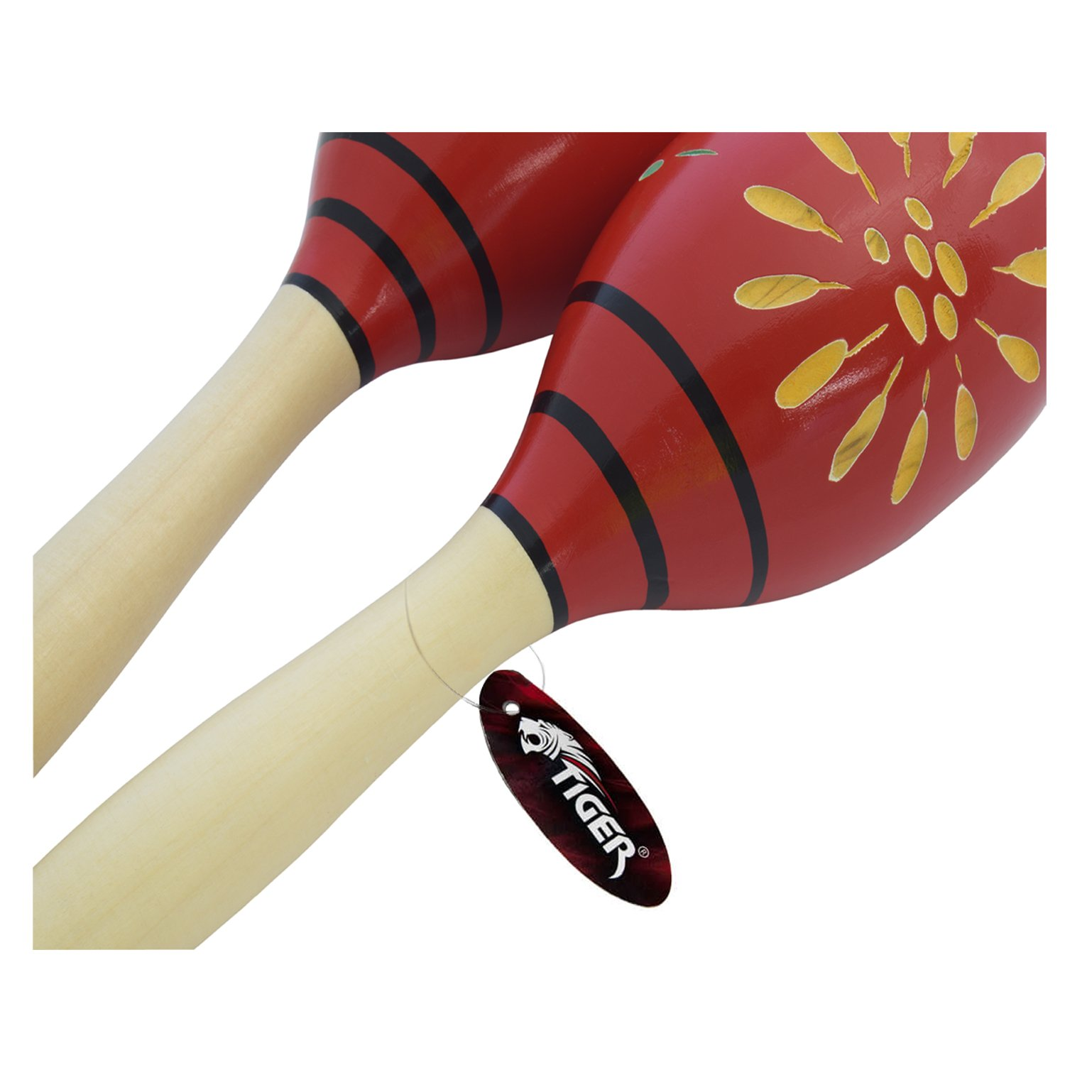 Brilliant Pair Of Wooden Large Maracas Rumba Shakers Rattles Sand Hammer Percussion Instrument Musical Toy For Kid Children Party Games Musical Instruments Sports & Entertainment