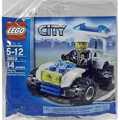 LEGO City Mini Figure Set #30013 Police City Quad Bagged: Toys & Games
