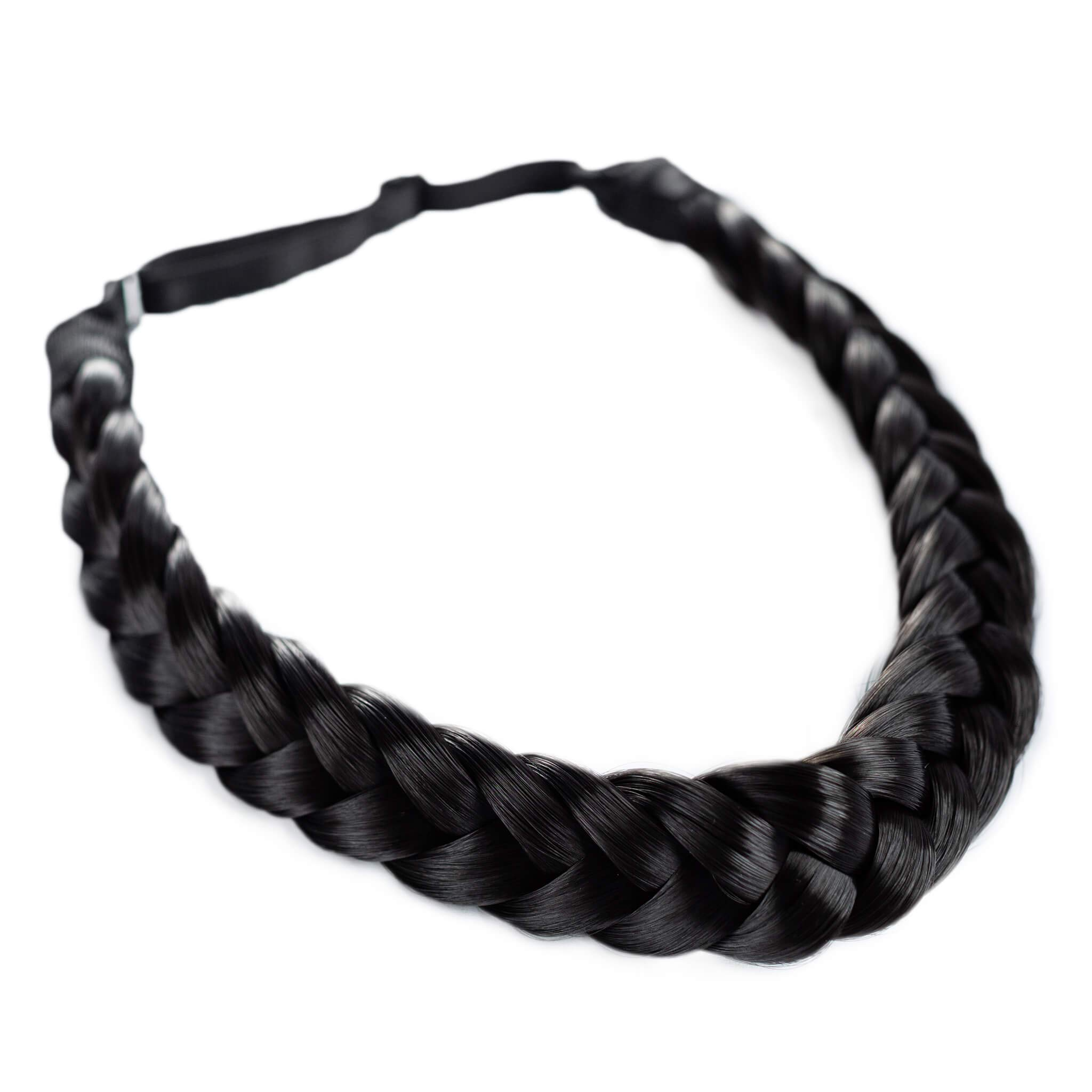 Madison Braids Women's Two Strand Headband Hair Braid Natural Looking Synthetic Hair Piece Extension - Lulu - Black by MADISON BRAIDS