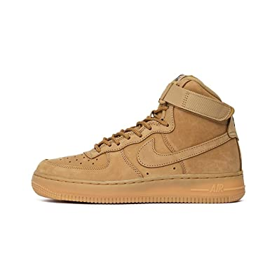 NIKE Air Force 1 High LV8 (GS), Chaussures de Sport-Basketball Garçon, Marron-Marrón (Flax/Flax-Outdoor Green), 37 1/2 EU: Amazon.fr: Chaussures et Sacs