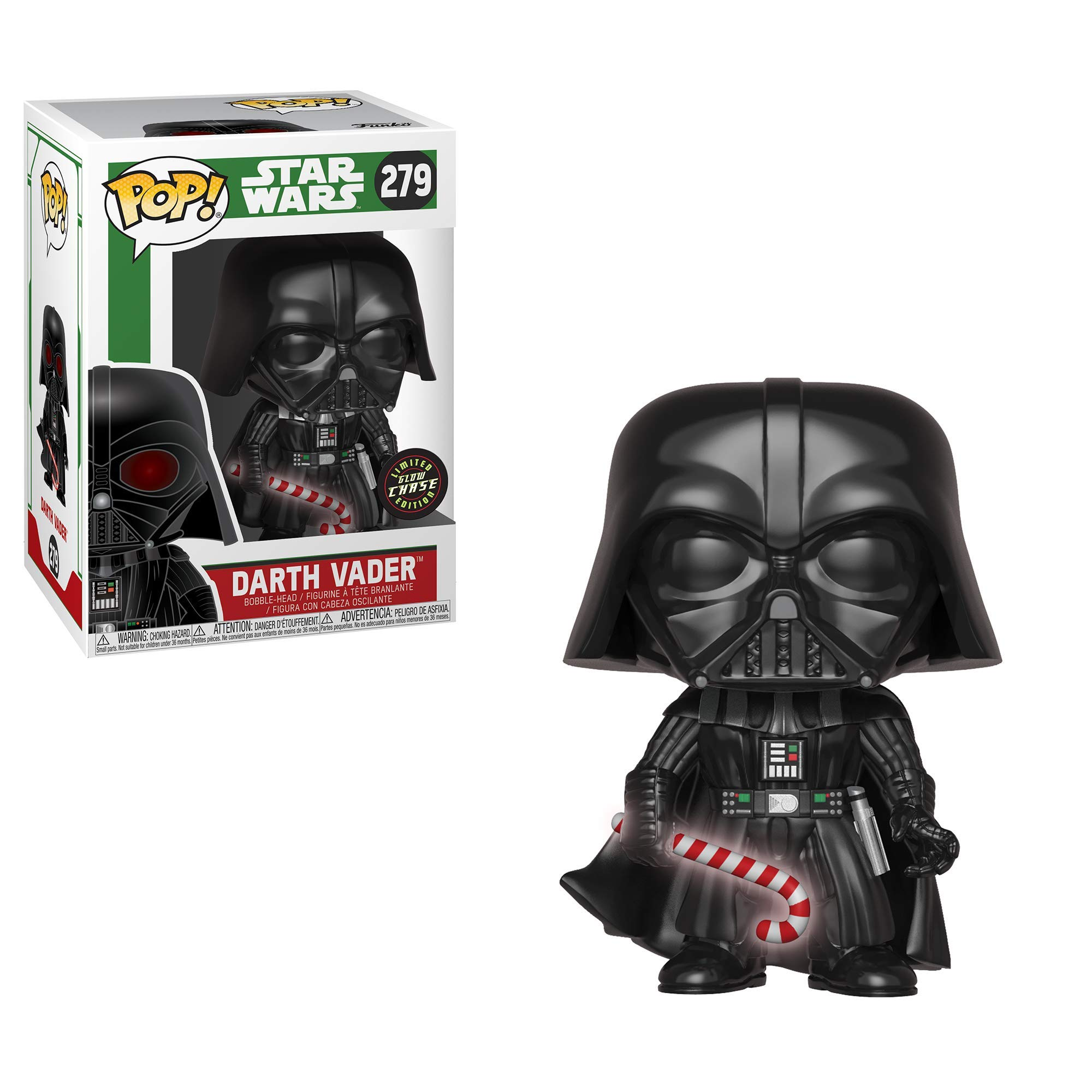 Funko Pop Star Wars: Holiday - Darth Vader with Candy Cane (Styles May Vary) Collectible Figure, Multicolor by Funko (Image #3)
