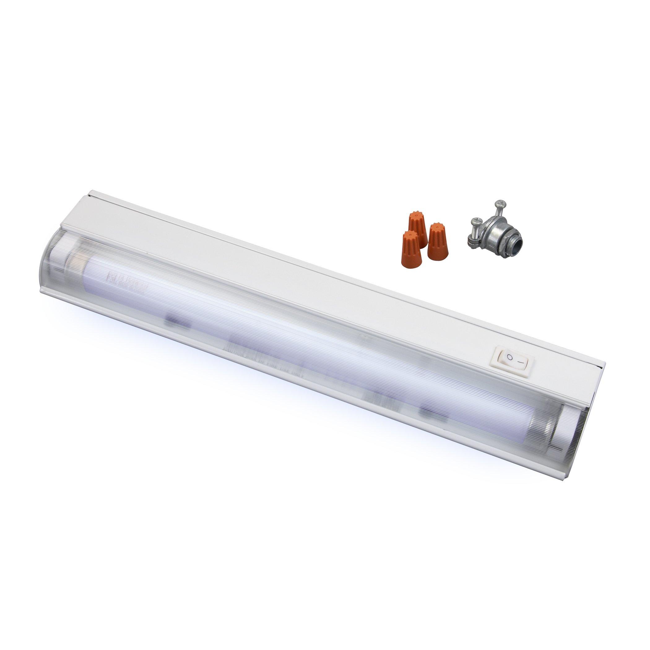 Amertac FA413HW 12.5-Inch Wire-In 8-Watt Fluorescent Slim Cabinet Light