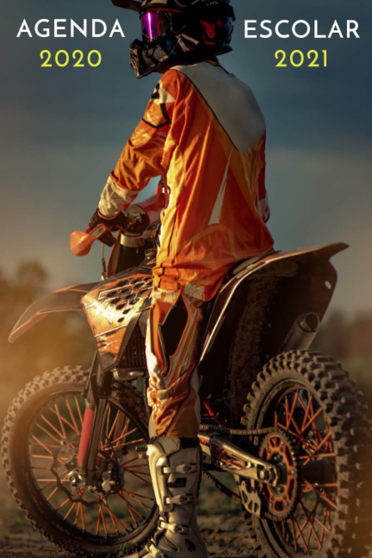 agenda escolar 2020 2021 motocross: agenda moto 2020 2021   agenda