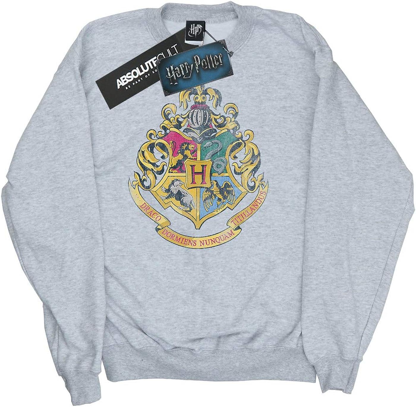 Harry Potter Gar/çon Hogwarts Distressed Crest Sweat-Shirt