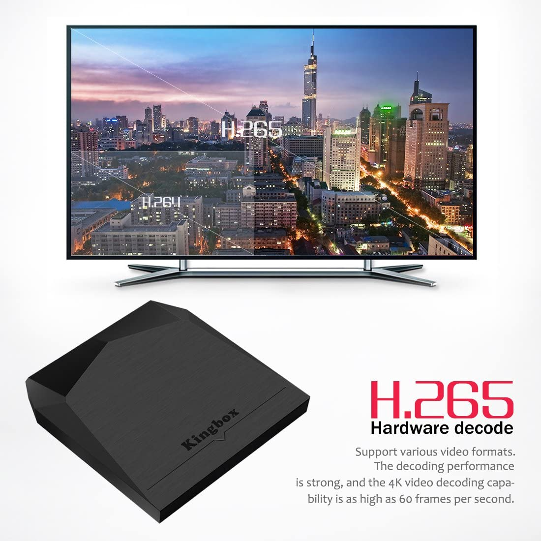 Kingbox Android TV Box, K3 Android 7.1 Box con Amlogic S912 Octa-Core 64 bits 2 GB/16 GB Soporte Dual WiFi 2.4 + 5 GHz/BT 4.0/4 K / 3 D / 1000 M LAN Android Smart TV Box: Amazon.es: Electrónica