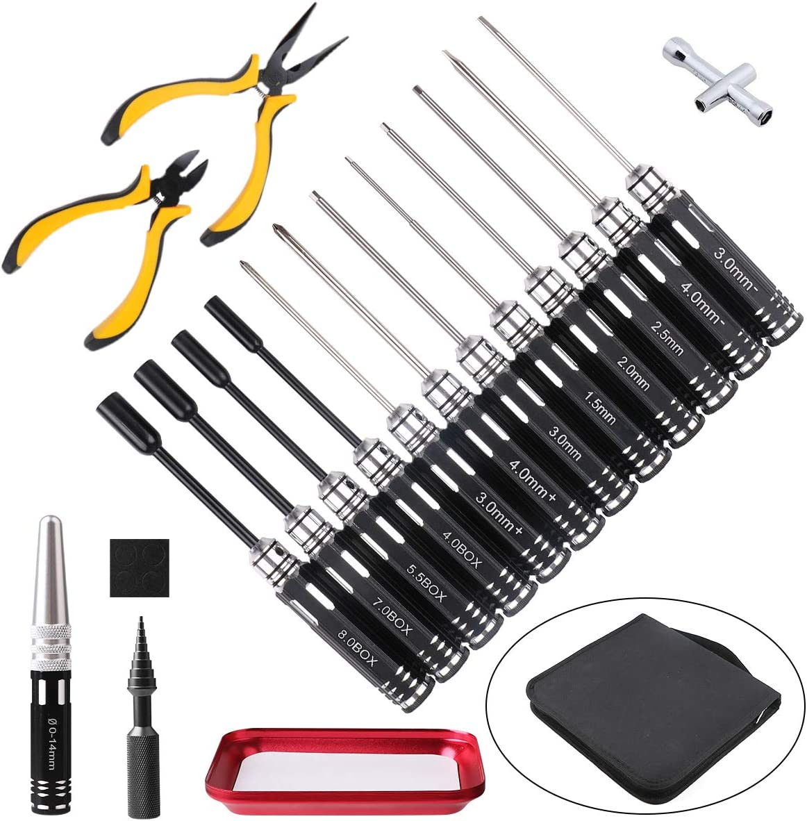 FPVERA 8 in 1 Hex Screwdrivers RC Screwdriver Tools Kit for RC Helicopter RC Boat Rc Cars