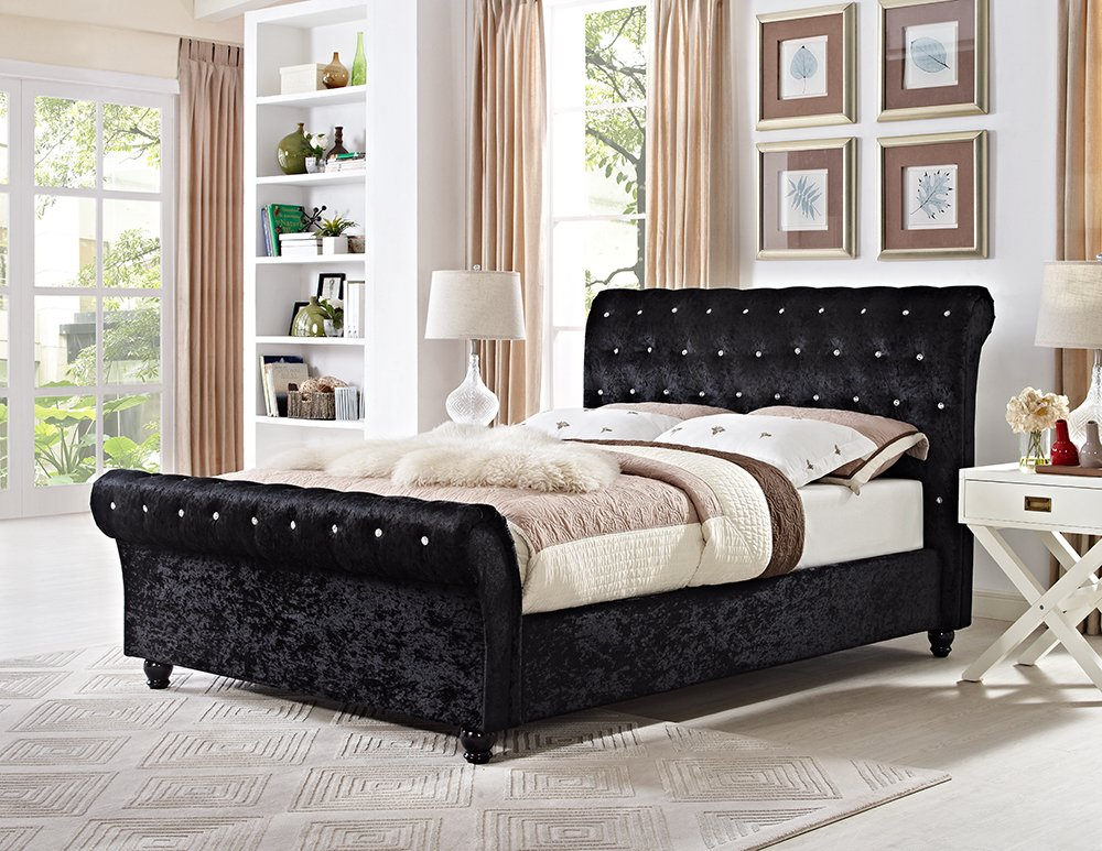 Lifestyle Furniture Chesterfield King Size Schlitten Designer Bett ...