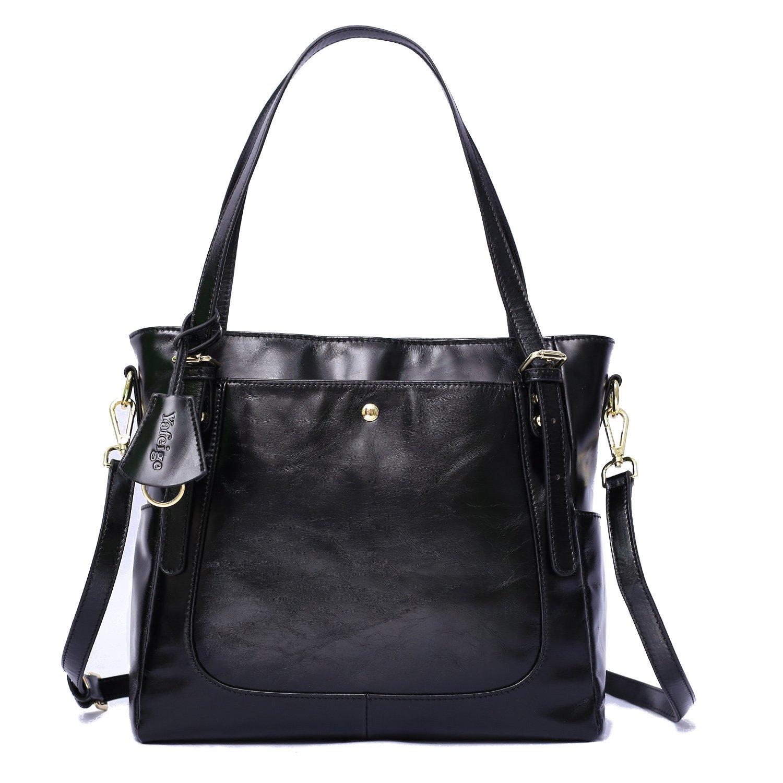 Yafeige Women's Handbag Vintage Soft Genuine Leather Shoulder Tote Top-handle Bag Cross-Body Bags Satchel Purse