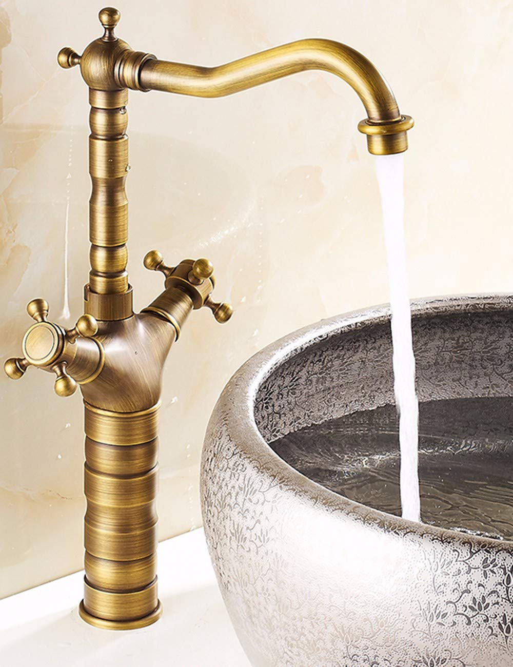 B Hlluya Professional Sink Mixer Tap Kitchen Faucet Faucet antique table basin mixer full brass faucets plus high-leading taps, B