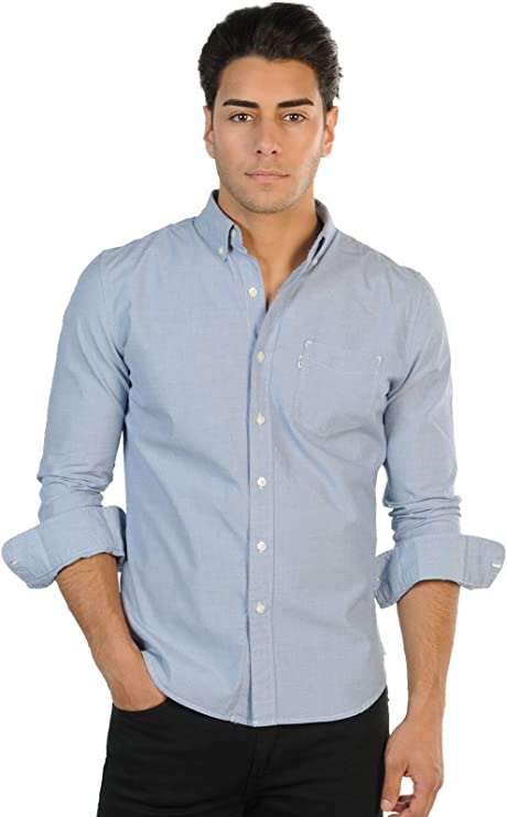 Levis Lisa - Camisa Formal de Manga Larga para Hombre, Color Azul Claro, Talla X-Large: Amazon.es: Ropa y accesorios