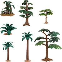 freneci Lot 7 of Model Trees Palm Tree Miniature Landscape Trees Fake Trees for Projects