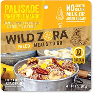 product image for Wild Zora Paleo Meals To Go - Palisade Pineapple Mango - Freeze Dried Meal for Backpacking and Camping - Vegan Breakfast, Gluten Free, Grain Free, No Added Sugar - (Single Serving)