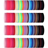 200 Pieces Seamless Cotton Hair Ties Thick Elastic Hair Bands Soft Stretchy Ponytail Holders for Women Girls (Multi…