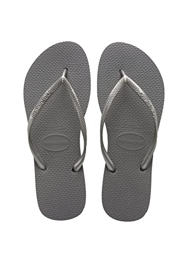 1b0150920673df ... best shoes 02d10  Havaianas Women s Slim Steel Grey Rubber Flip-Flops  And House Slippers .