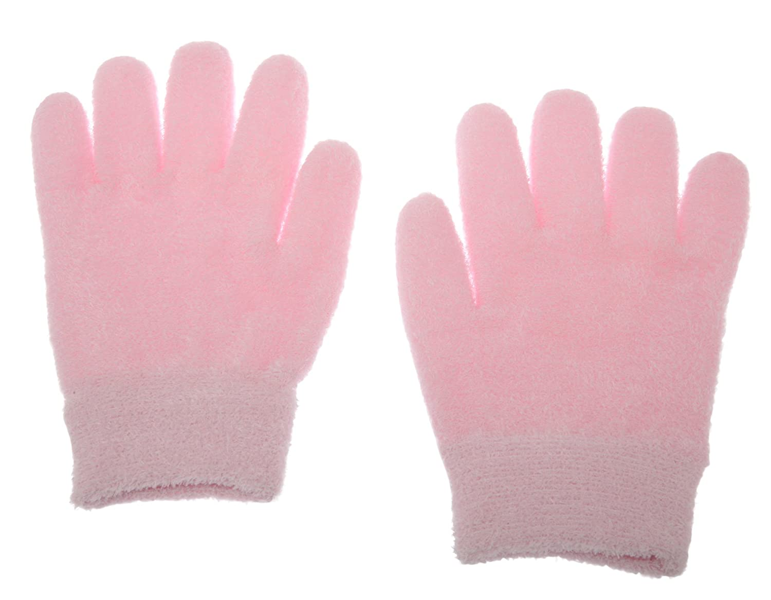 Deluxe Comfort Mosi-Glov-Feat-Pink Lotion Gloves(Feather Yarn) Gel-Lined Moisturizing Gloves, 1 Pair, Pink SPA Gloves