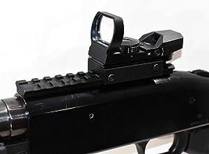 TRINITY Mossberg 500 Pump Tactical Red Dot Sight Combo Kit Hunting Optics Tactical Home Defense Accessory Aluminum Black Picatinny Weaver Base Mount Adapter Single Rail.