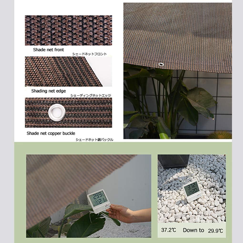 Shade net Red de Sombra casa,Tela marr/ón para Sombra de Sol Cubierta de Malla de Malla al 95/% para jard/ín Red Resistente a los Rayos UV para Flores,Plantas,c/ésped para Patio