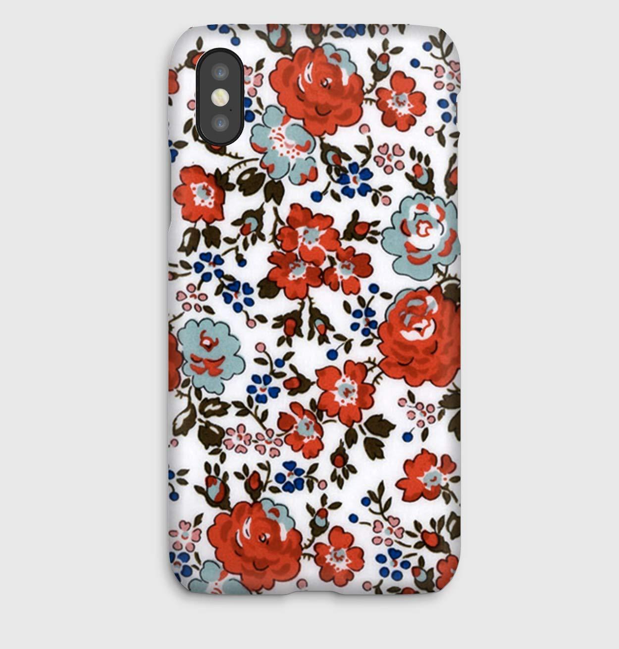 Liberty Felicite Corail, coque pour iPhone XS, XS Max, XR, X, 8, 8+, 7, 7+, 6S, 6, 6S+, 6+, 5C, 5, 5S, 5SE, 4S, 4,