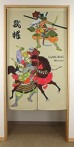 Narumi Japanese Style Goodwill Japanese Noren Curtain ukiyoe Prints Busho Leader of The Samurai Squad NarumiKK 14146