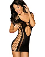 Sexy Seamless Cut Out Fishnet a Mini Dress Chemise Lingerie for women for sex
