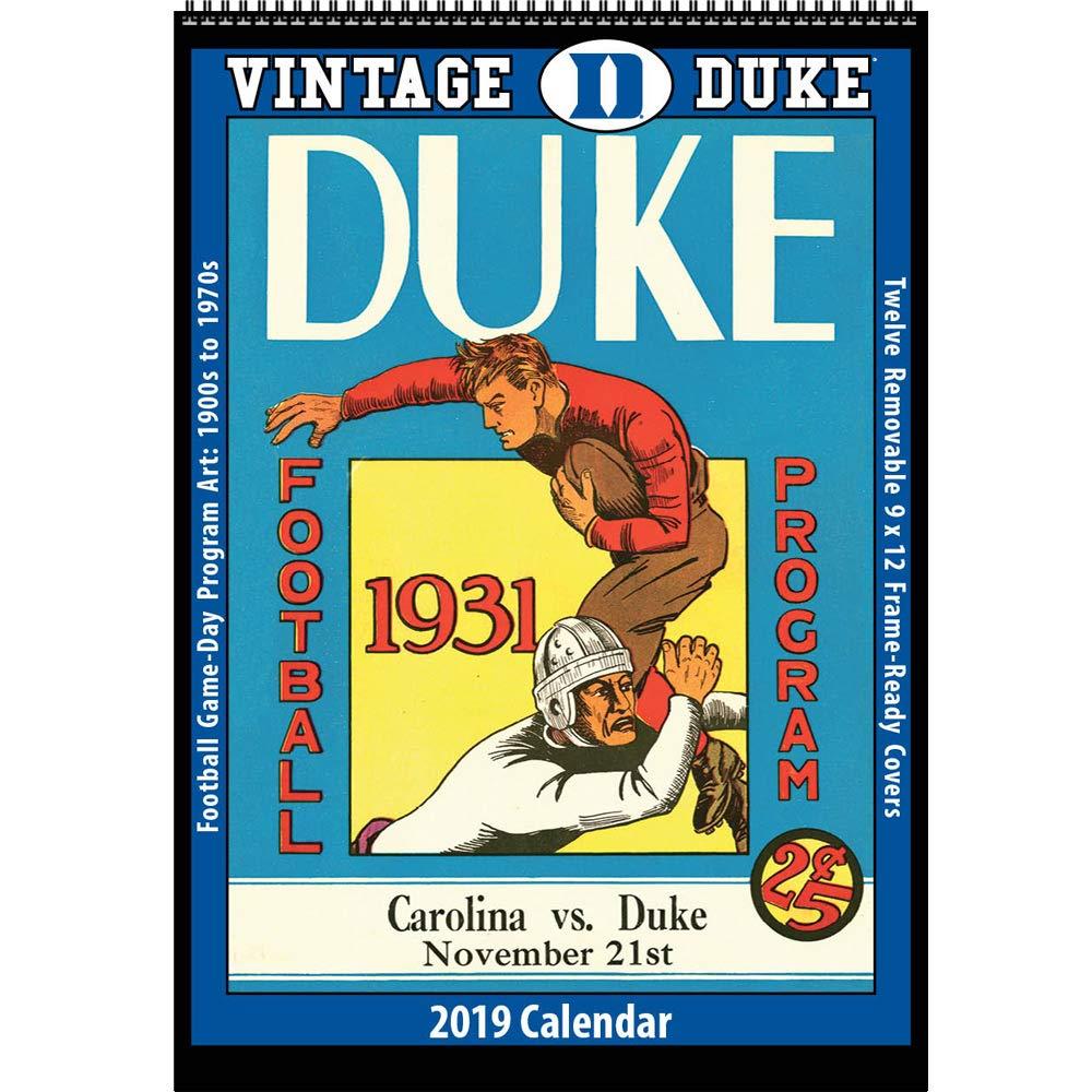 Duke 2019 Calendar Amazon.: Vintage Duke Blue Devils 2019 College Football