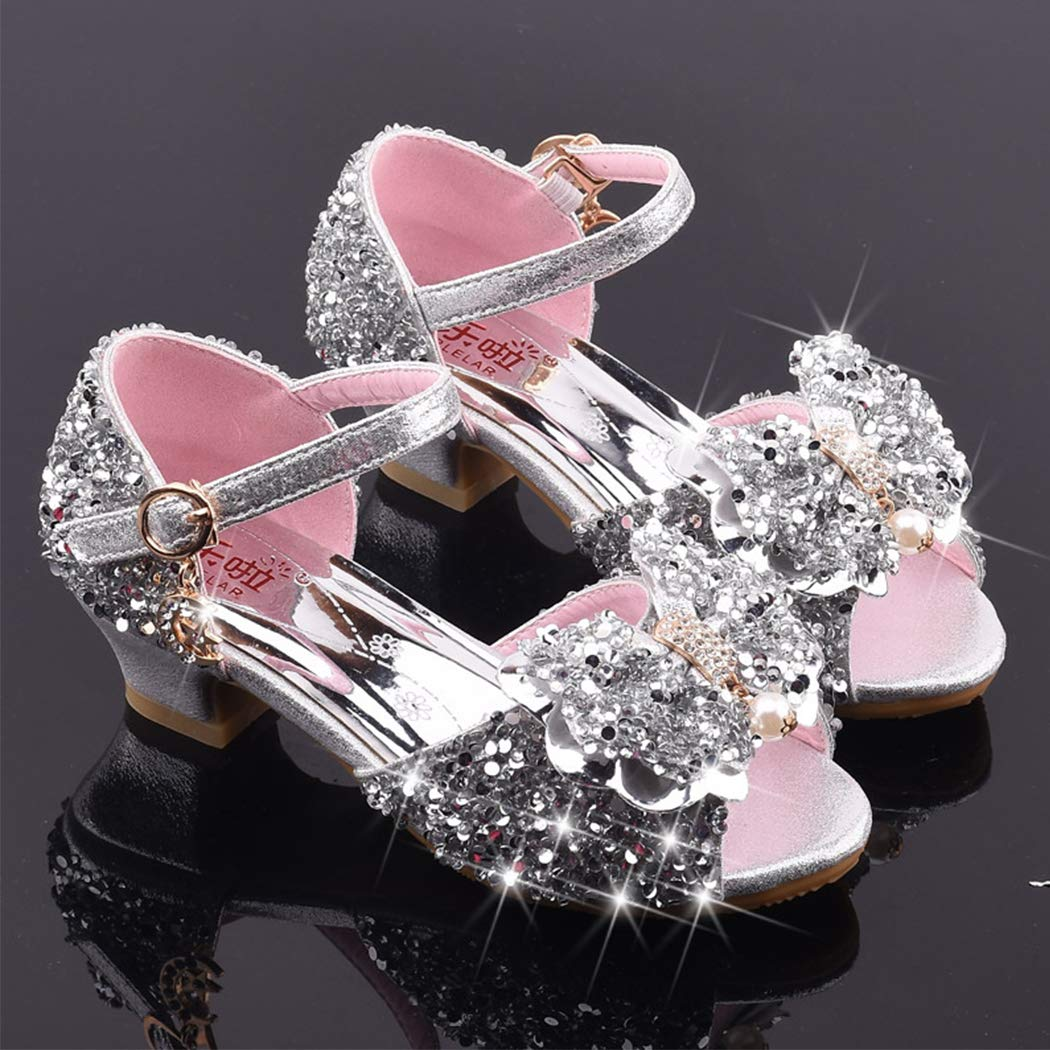 xzbailisha Girls Princess Sandals Mary Jane Dance Party Cosplay Shoes for Kids Toddler