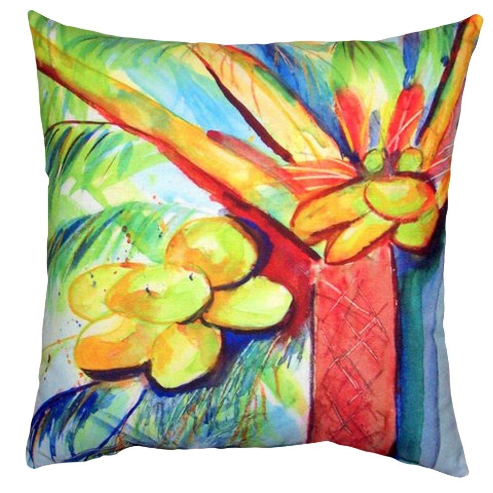 Designart CU7860-16-16-C Blue and Pink Flower Pattern Floral Round Cushion Cover for Living Room 16 Sofa Throw Pillow Insert Printed On Both Side
