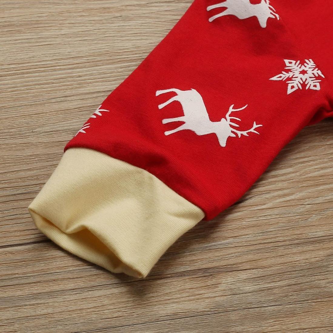 Perman Baby Boys Girls Christmas Long Sleeve Deer Printed Romper Jumpsuit Outfits PM-919